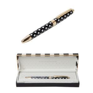 ケイトスペード ボールペン kate spade to-do list ball point pen black dots キャップ式 ブラック クリーム ドッド ゴールド ペン 133745|southcoast