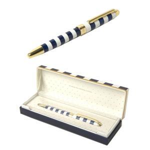 ケイトスペード ボールペン kate spade BALLPOINT PEN キャップ式 ネイビーストライプ ペン 185450|southcoast