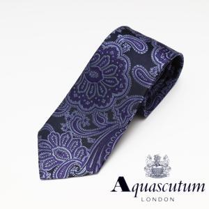 Aquascutum アクアスキュータム ペイズリー柄 シル...