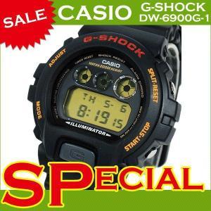 【訳あり・箱なし大特価】G-SHOCK Gショック ジーショック g-shock gショック カシオ 腕時計  メンズ 人気 DW-6900G-1 DW-6900G-1VQ ブラック 黒