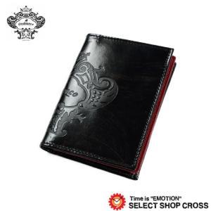 オロビアンコ Orobianco 名刺入れ カードケース FIGARO-I3 ビッグロゴ刻印レザー TRILOGIA ブラック レッド 7026562 正規品 southern-cross9
