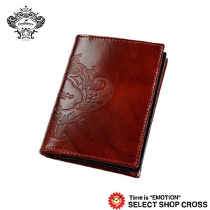 オロビアンコ Orobianco 名刺入れ カードケース FIGARO-I3 ビッグロゴ刻印レザー TRILOGIA レッド ネイビー 7026563 正規品 southern-cross9