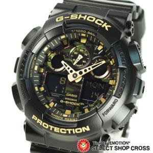 腕時計 Gショック カシオ G-SHOCK CASIO メンズ アナデジ ビッグケース GA-100CF-1A9DR ブラック ゴールド カモフラージュ柄 海外モデル