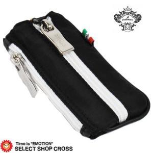 Orobianco オロビアンコ 期間限定モデル キーケース PORTALE portale-7028510 ブラック ホワイトファスナー southern-cross9