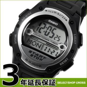 CASIO カシオ ベーシック デジタル 液晶 クオーツ ユニセックス 腕時計 サッカー 審判 試合時間計測用ストップウォッチ W-756-1A ブラック