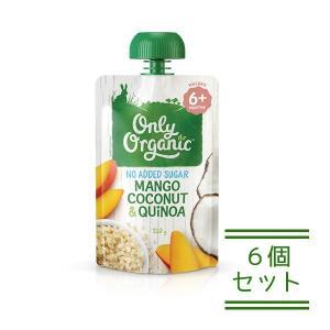 オンリー オーガニック ベビーフード アレルギー 対策(生後6か月頃〜ずっとOK用)マンゴーココナッツキヌア120g×6個セット 離乳食|southernbridge