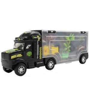 トレーラー型 ケース付き 恐竜 車 フィギュア セット おもちゃ 古代 生物 ミニチュア  (送料無料)hos-j99|southernwind