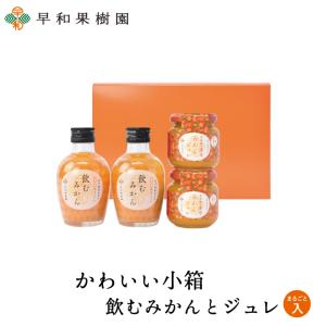 みかんジュース ゼリー 贈り物 ギフト 内祝い お礼 かわいい小箱 飲むみかんとジュレまるごと1個入 早和果樹園|sowamikan