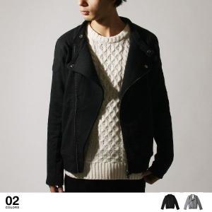 【ジャケット】裏毛 スウェット ダブル ライダース ジャケット メンズ ファッション 通販 メンズ トレンド|soyous