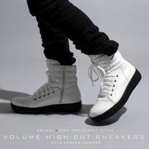 ボリューム ハイカット スニーカー シューズ 靴 HIGHeST メンズ|soyous
