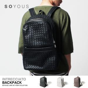イントレチャート PUレザー リュック バックパック メンズ|soyous