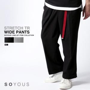 ストレッチ TR ワイド パンツ メンズ|soyous