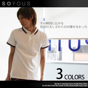 ポロシャツ メンズ 半袖 メンズ トレンド|soyous