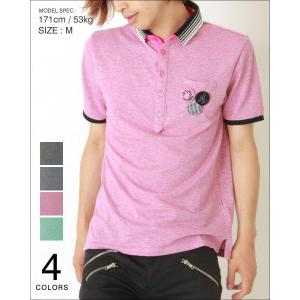 ポロシャツ メンズ 半袖/襟杢生地 メンズ トレンド|soyous