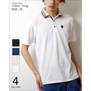 スキッパー ポロ シャツ メンズ 半袖/2枚襟 メンズ トレンド|soyous