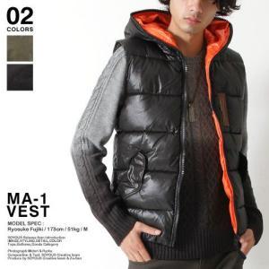 MA-1 タイプ シレ 中綿 ベスト メンズ トレンド|soyous