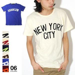 NEW YORK プリント スラブ 天竺 クルーネック 半袖 Tシャツ カットソー メンズ トレンド soyous