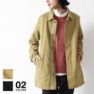 コットン ツイル ロング ステンカラー コート メンズ トレンド|soyous