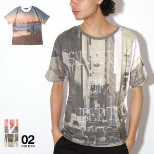 前身転写 プリント 半袖 Tシャツ カットソー メンズ トレンド|soyous