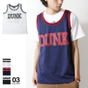 バスケット メッシュ ストリート スポーツ テイスト ロゴ タンクトップ メンズ トレンド|soyous