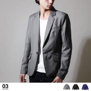 【ジャケット】スーツ シルエット スリム TR ギャバ シャイニー テーラードジャケット メンズ ファッション 通販 メンズ トレンド|soyous