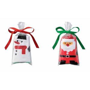 クリスマス・ハンドタオル(サンタ&スノーマン)※100個以上でのご注文をお願いします。(端数出荷可 例:105個 210個など)
