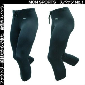(クリックポスト200円OK)MCN SPORTS スパッツNo.1[7分丈](レギンス・タイツ)|sp-kid