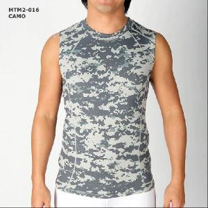 (クリックポスト200円OK)MCN SPORTS 機能性ウェアソフトフィット ノースリーブシャツ カモフラージュ柄(迷彩柄)|sp-kid