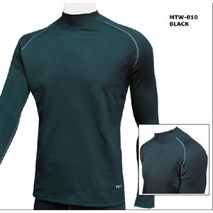 (クリックポスト200円OK)MCN SPORTS 裏起毛長袖ハイネックシャツ(大きいサイズ太めの方用あります)|sp-kid
