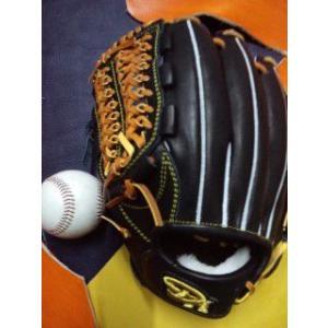 左投げ DH(ダークホース) ソフトボールオールラウンド用グラブ ブラックXタン 湯揉み型付け込み|sp-mikuni0595