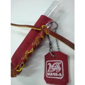 携帯に便利!グラブ革製 アルコールスプレーホルダー (スプレー付)|sp-mikuni0595