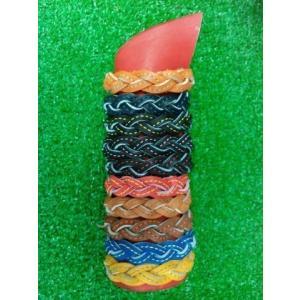 グラブの革製 ブレスレット・ショート アミアミ&ステッチタイプ ヨガ|sp-mikuni0595