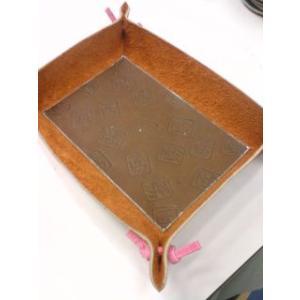 グラブ革製 手づくりのトレイ 大|sp-mikuni0595