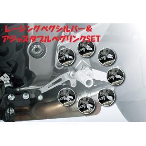 〜15' GSX1300R隼・GSX-S1000・GSF1250/S・GSR750 LSL レーシングペグ シルバー&アジャスタブルペグリンクSET プロト正規品【当店在庫あり】|sp-shop