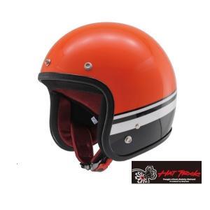 在庫調整特価!Hattrick パイロットヘルメット HT DA01 BL オレンジ/ブラック XLサイズ デイトナ【当店在庫あり】|sp-shop