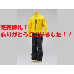 【完売御礼!】1点限定特価!HR-001 マイクロレインスーツ イエロー/BLサイズ デイトナ|sp-shop