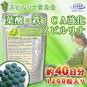 葉酸・鉄・カルシウム強化スピルリナ 【サプリメント】...