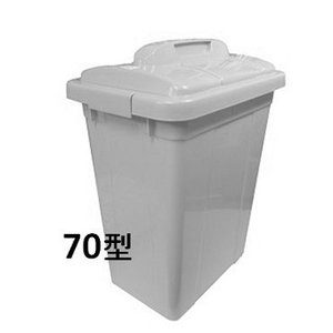 新輝合成 トンボ エコペールEC−70ふた付きセット・グレー 【業務用 大型 屑入れ ごみ箱 ゴミ入れ】|sp2d