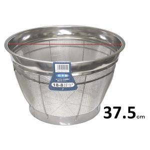 18−8ステンレス製 弁慶 米揚げザル・37.5cm 10升(1斗) 【深型ざる】|sp2d