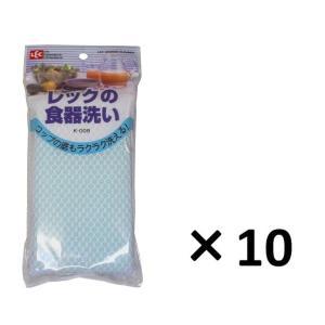 レック 食器洗いK−008・10個パック・グリーン【食器用スポンジ】|sp2d