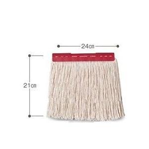 テラモト FXモップ替糸(J)24c 300gレッド|sp2d