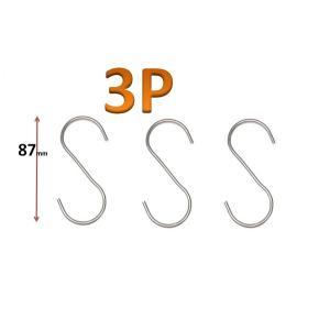 ステンレス プチフック Aタイプ 3P 全長約87mm 【S字フック S型フック 引っ掛け金具】