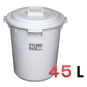 新輝合成 トンボ オリジナルペール45L ふた付きセット・グレー 【業務用 大型 屑入れ ごみ箱 ゴミ入れ】|sp2d