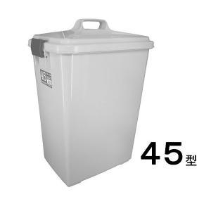 新輝合成 長角ペール45型ふた付きセット・グレー 【業務用 大型 屑入れ ごみ箱 ゴミ入れ】|sp2d