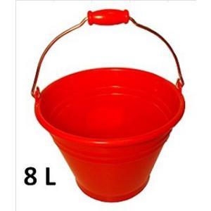 ヒマラヤ カラーバケツ8L・赤|sp2d