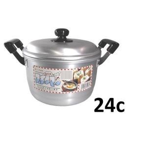 前川金属 兼用鍋24c 【蒸し器 セイロ】