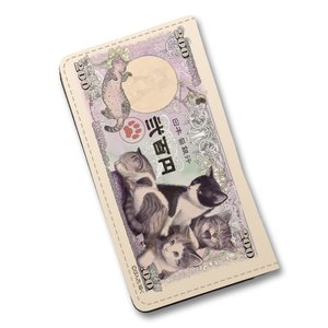 子猫紙幣 手帳型スマホケース|space-factory