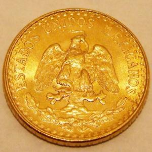 【金コイン】メキシコ2ペソ金貨 1945年刻印 メキシコ合衆国発行