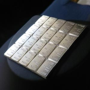純銀インゴット スイスヴァルカンビ シルバーバー 20g valcambi社発行 保証書付 グッドデリバリーバー 銀地金(1×20g)