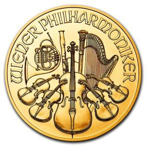 純金 コイン『ウィーン金貨 1/25オンス 2019年製 クリアケース入り』オーストリア造幣局発行 1.24gの純金 品位:K24 (99.99%) 24金《安心の本物保証》保証書付き|spacein
